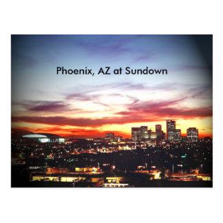 Carte Postale Phoenix, AZ au crépuscule