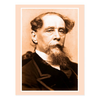 Carte Postale Photo Charles Dickens d'art