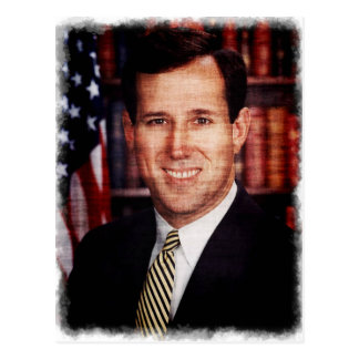 Carte Postale Photo d'art de portrait de Santorum