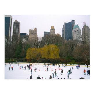 Carte Postale Photo de Central Park de piste de patinage de la