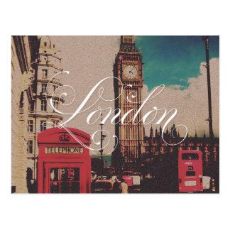 Carte Postale Photo de cru de point de repère de Londres