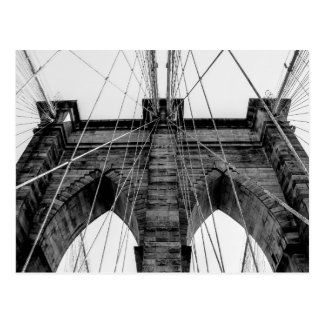 Carte Postale Photo de pont de Brooklyn en noir et blanc