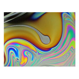 Carte Postale Photo de surface de bulle de savon