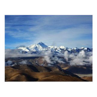 Carte Postale Photo de voyage du Thibet Qomolangma Mt Everest