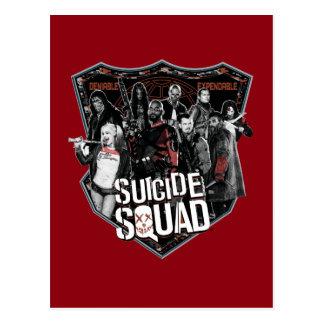 Carte Postale Photo d'insigne de groupe du peloton   de suicide