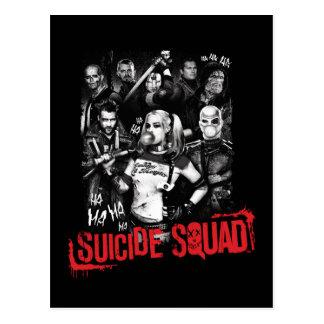 Carte Postale Photo grunge de groupe du peloton | de suicide