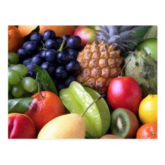 Carte postale, photo mélangée de fruit