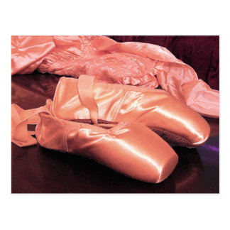 Carte Postale Photo rose de chaussures d'orteil