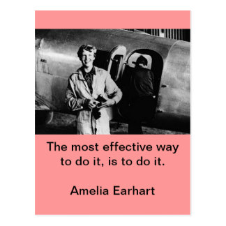 Carte Postale Photo vintage d'Amelia Earhart