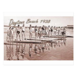 Carte Postale Photo vintage de groupe de surf de Daytona Beach