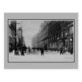 Carte Postale Photo vintage de Manchester Deansgate de 1890s