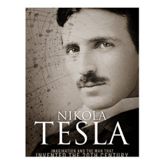 Carte Postale Photo vintage de Nikola Tesla