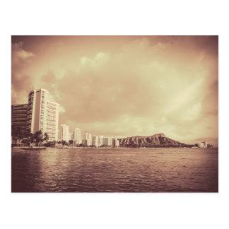 Carte Postale Photo vintage de plage d'Hawaï