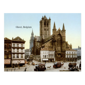 Carte Postale Photo vintage : Gand, Belgique