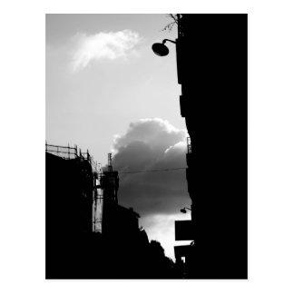 Carte Postale Photographie blanche noire de Gassendi Paris de