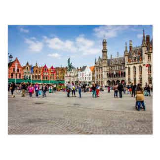 Carte Postale Photographie de marché de Bruges