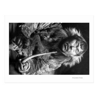 Carte Postale Photographie esquimaude d'Alaska de tuyau de