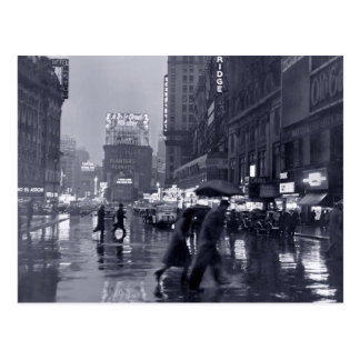 Carte Postale Photographie : les années 1940 NYC sous la pluie