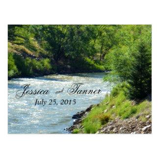 Carte Postale Photographie RSVP de nature de courant de lac