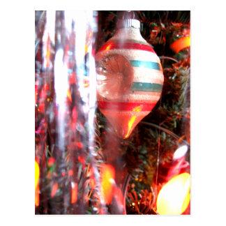 Carte Postale Photographie très vintage d'ornement de Noël