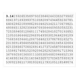Carte Postale Pi célèbrent le jour de 3,14 pi