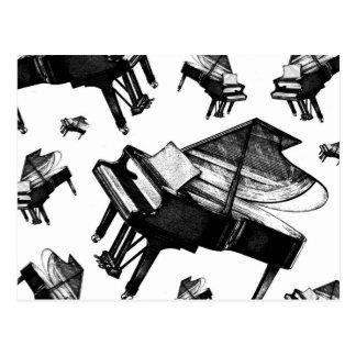 Carte Postale Piano à queue