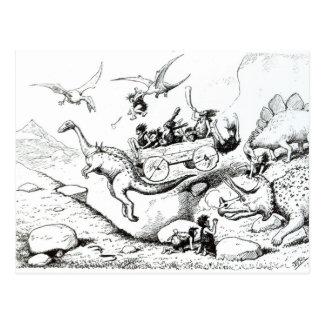 Carte Postale Piaulements préhistoriques, 1894