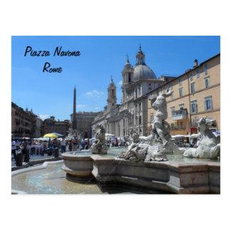 Carte Postale Piazza Navona- Rome, Italie
