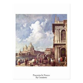 Carte Postale Piazzetta à Venise par Canaletto (ii)