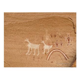 Carte Postale Pictographes sur des murs de canyon de grès en