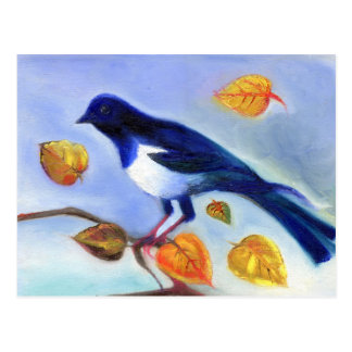 Carte Postale Pie 2012 d'automne