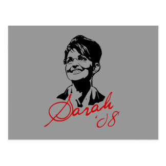 Carte Postale Pièce en t de signature de Sarah Palin