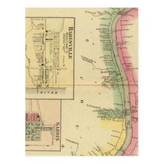 Carte Postale Pièce supérieure de la rivière Ohio et de vallée
