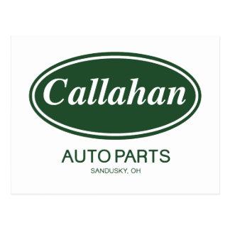 Carte Postale Pièces d'auto de Callahan