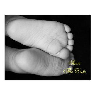 Carte Postale Pieds mignons de bébé