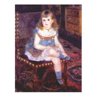 Carte Postale Pierre-Auguste Renoir-Georgette Charpentier assis