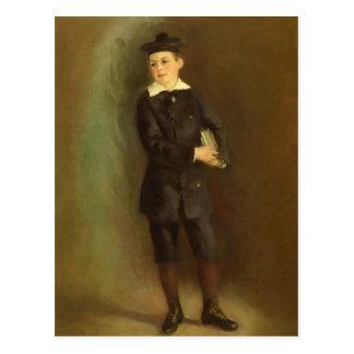 Carte Postale Pierre-Auguste Renoir- le petit écolier