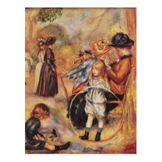Carte Postale Pierre un Renoir   dans les jardins du