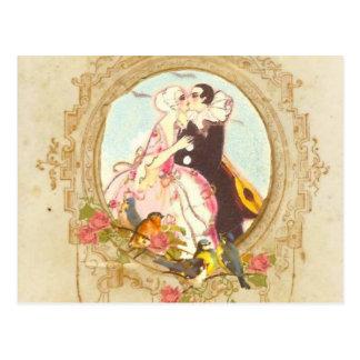 Carte Postale Pierrot et Columbine