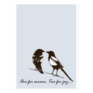 Carte Postale pies - une pour la peine, deux pour la joie