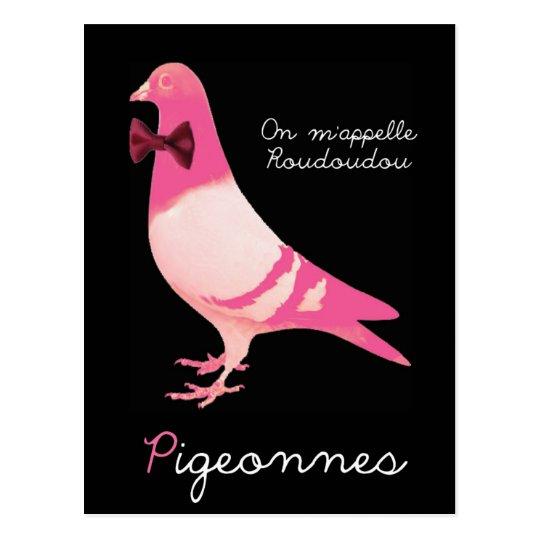 Carte Postale Pigeonnes - On m'appelle Roudoudou
