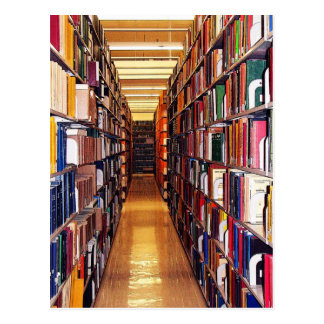 Carte Postale Piles de bibliothèque