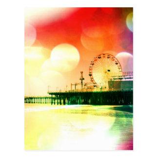 Carte Postale Pilier de Santa Monica - en éclatant la photo de