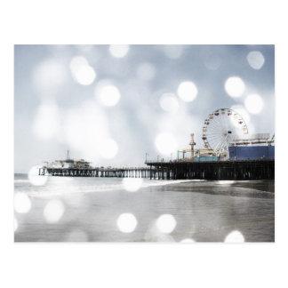 Carte Postale Pilier de Santa Monica - le gris argenté miroite