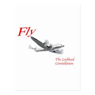 Carte Postale Pilotez la constellation de Lockheed