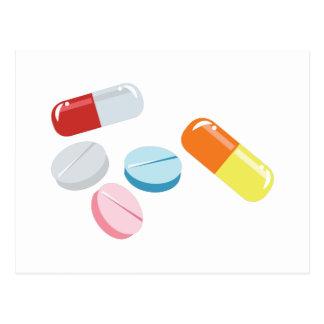Carte Postale Pilules mélangées