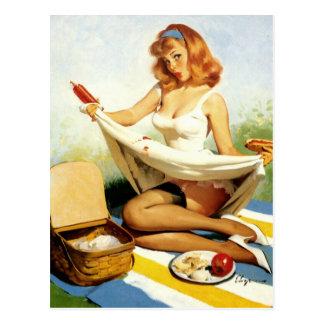 Carte Postale Pin- de pique-nique