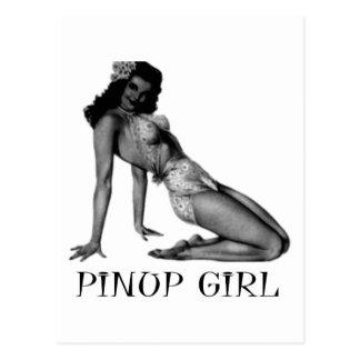Carte Postale Pin VERS LE HAUT de conception de cool de fille !