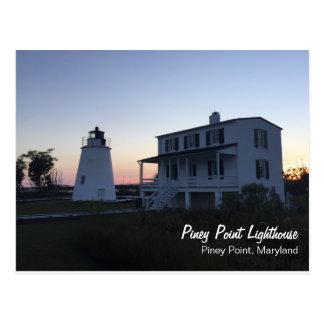 Carte postale Piney de phare de point