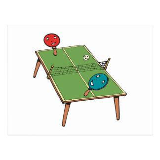 Carte Postale Ping-pong